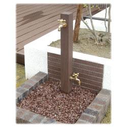 ディーズガーデン DGW0202 水栓柱 ウォータースタンドTypeA 立水栓二口タイプ 蛇口2個付き deas