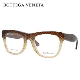 メガネ 度付き 度なし 伊達メガネ カラーレンズ 眼鏡 ボッテガ B.V.271 SJ9 52(CROSSBRW BRW ) クロスブラウン/クリア ウェリントン メンズ レディース 【ウェリントン型】 レンズセット UVカット 紫外線 サングラス