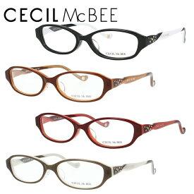 セシルマクビー メガネフレーム CECIL McBEE 度付き 度なし 伊達 だて 眼鏡 CMF 7017 全4カラー 52サイズ オーバル型 レディース 女性用 アイウェア UVカット 紫外線対策 UV対策 おしゃれ ギフト