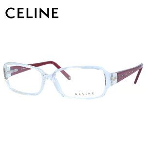 セリーヌ メガネフレーム 伊達メガネ レギュラーフィット CELINE VC1581S 0P79 55サイズ スクエア型 レディース ブラゾン アイコン ロゴ ラインストーン