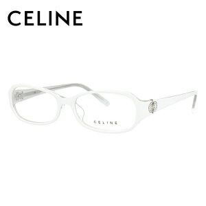 セリーヌ CELINE メガネ フレーム 眼鏡 度付き 度なし 伊達 アジアンフィット VC1652S 06RY 54サイズ オーバル型 レディース アイコン ラインストーン