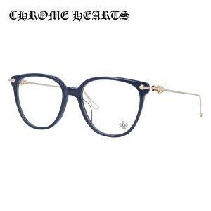 クロムハーツ メガネ 度付き 度なし 伊達メガネ 眼鏡 メガネフレーム CHROME HEARTS レギュラーフィット THOT PCK-GP P.Cock-Gold Plated 52サイズ ウェリントン型 日本製 インディゴ色 ユニセックス メン