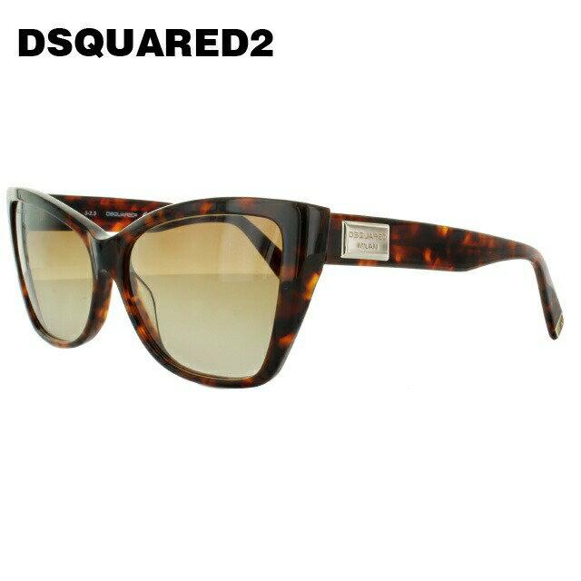 ディースクエアード サングラス DSQUARED2 DQ0129S 55F トータス/ブラウングラデーション べっこう【レディース】 【スクエア型】 UVカット