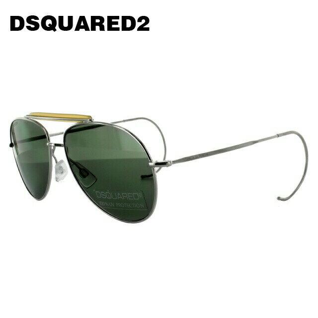 ディースクエアード サングラス DSQUARED2 DQ0144S 16N シルバー/グリーン ティアドロップ【レディース】【メンズ】 【スクエア型】 UVカット