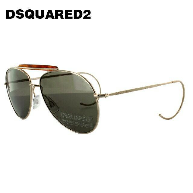 ディースクエアード サングラス DSQUARED2 DQ0144S 28J ゴールド/グレー ティアドロップ【レディース】【メンズ】 【スクエア型】 UVカット