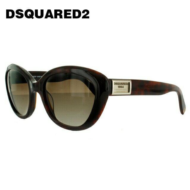 ディースクエアード サングラス DSQUARED2 DQ0146S 53F ダークトータス/ブラウングラデーション べっこう【レディース】 【スクエア型】 UVカット