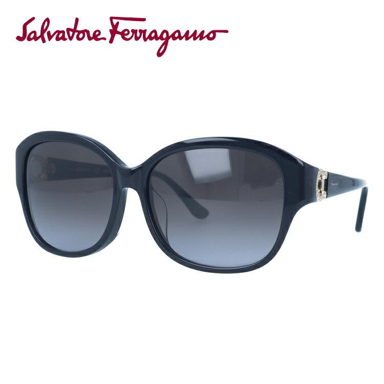 サルヴァトーレ フェラガモ サングラス Salvatore Ferragamo SF741SRA-001 57 ブラック アジアンフィット【レディース】 UVカット