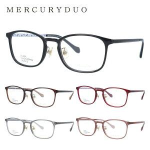 マーキュリーデュオ メガネ フレーム 度付き 度なし 伊達メガネ 眼鏡 MERCURYDUO MDF2011 全5カラー 52サイズ ウェリントン レディース 女性 小花柄