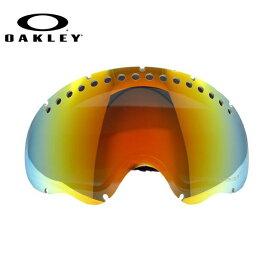 オークリー ゴーグル 交換レンズ OAKLEY A FRAME Aフレーム 01-044 Fire Iridium Polarized 偏光 レッド/ミラー 球面レンズ ダブルレンズ 曇り止め ウィンタースポーツ スノーボード SNOWBOAD スキー SKI 紫外線 UVカット