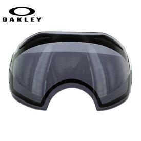 オークリー ゴーグル 交換レンズ OAKLEY AIRBRAKE エアブレイク 01-345 Dark Grey グレー 球面レンズ ダブルレンズ 曇り止め ウィンタースポーツ スノーボード SNOWBOAD スキー SKI 紫外線 UVカット