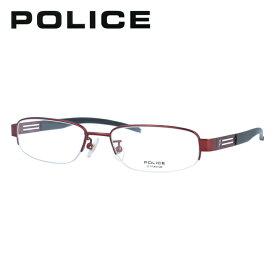ポリス 伊達メガネ 眼鏡 POLICE V8229J 0R10 52サイズ スクエア 【国内正規品】