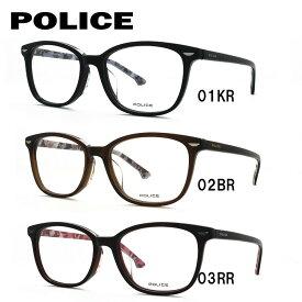 メガネ 度付き 度なし 伊達メガネ カラーレンズ 眼鏡 ポリス アジアンフィット POLICE VPL664J 全3カラー 51サイズ ウェリントン レンズセット UVカット 紫外線 サングラス