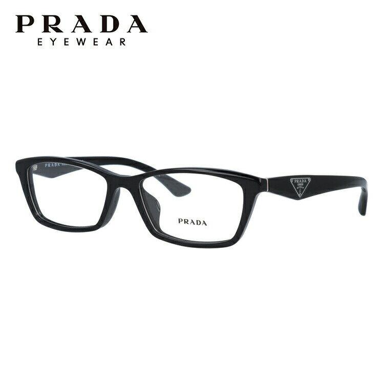 プラダ PRADA 眼鏡 国内正規品 PR20RV 1AB1O1 53 ブラック アジアンフィット レディース メンズ