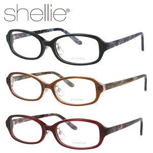 シェリー メガネフレーム shellie 度付き 度なし 伊達 だて 眼鏡 SH6324 全3カラー 52サイズ スクエア型 レディース 女性用 アイウェア UVカット 紫外線対策 UV対策 おしゃれ ギフト