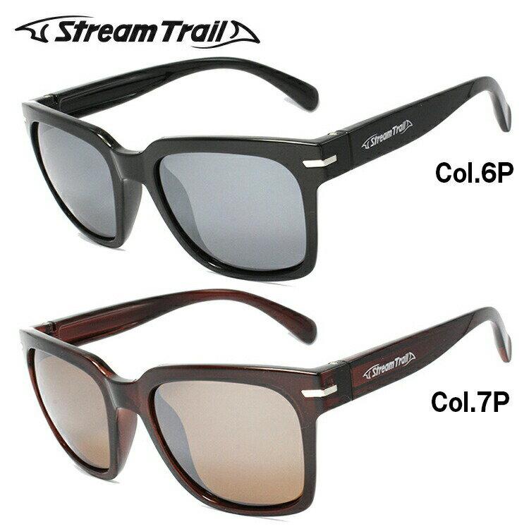 ストリームトレイル サングラス 偏光サングラス ミラーレンズ Stream Trail ST3003 全2カラー ウェリントン スポーツ UVカット
