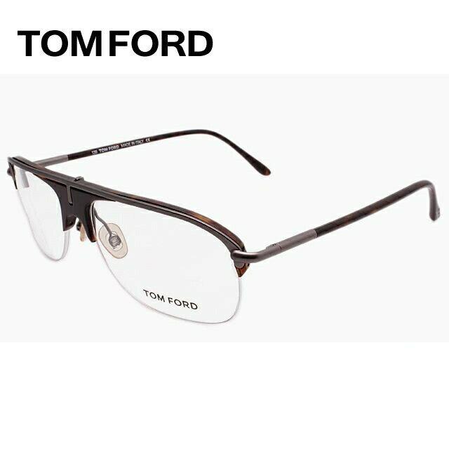 トムフォード TOMFORD 伊達メガネ 眼鏡 TF5046 96 56サイズ セル/ティアドロップ/ハーフリム/メンズ