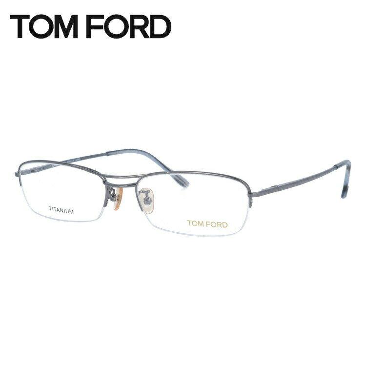 トムフォード TOMFORD 伊達メガネ 眼鏡 TF5063 731 54サイズ チタン/スクエア/ハーフリム/メンズ 【スクエア型】