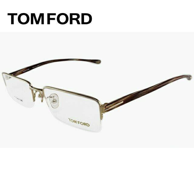 トムフォード TOMFORD 伊達メガネ 眼鏡 TF5067 772 53サイズ チタン/スクエア/ハーフリム/メンズ 【スクエア型】