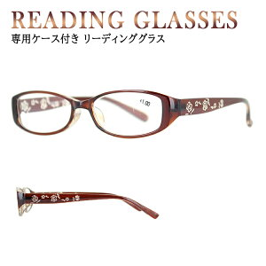 老眼鏡 レディース おしゃれ リーディンググラス スクエア セルフレーム RD-9081 バラ柄テンプル レーザー加工 ブラウン 弱度数 3度数展開 女性用 老眼鏡に見えないファッションタイプ シニア