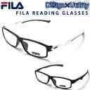 老眼鏡 おしゃれ メンズ FILA リーディンググラス シニアグラス ブランド スポーティーデザイン ズレ防止用ラバー ブ…