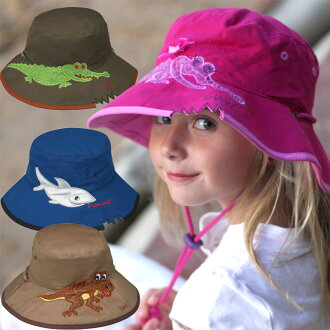 UV 切的帽子兒童)-孩子們的帽子-寬桶孩子孩子孩子女士-動物 * 紫外線 (UV) 最佳值邊境巡邏隊 50 +