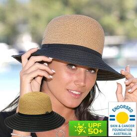 麦わら帽子 ストローハット UVカット レディース ハット つば広 帽子 日よけ 日よけ帽子 UVハット 紫外線対策 ハット 春 夏 帽子 母の日 ギフト