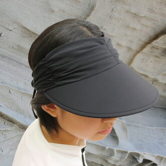 Sun hat - Ladies visor - Lycra Adjustable Visor - Black UPF50+ EXCELLENT PROTECTION which blocks >97.5% of the sun's UV radiations giving excellent protection
