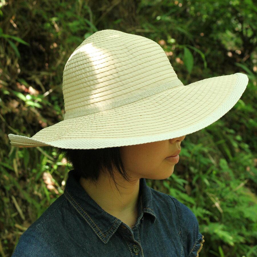 UVカット 帽子(女性用) - レディース ハット つば広 帽子- リボン キャプリーヌ レデイース レディスs ladies 夏 uv 帽子 ※紫外線カット(UVカット)最高値UPF50+ 母の日 ギフト