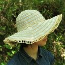 レディース ツートーン キャプリーヌ ナチュラル 麦わら帽子