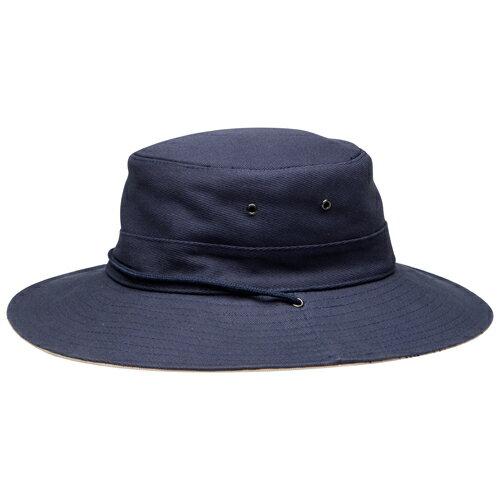 UVカット 帽子(男性用) - メンズ Men's ハット- クリケット スタイル ハット カラー:ネイビー 大きいサイズ登山 トレッキング 自転車におすすめ55cm / 57cm / 59cm / 61cm / 63cm ※紫外線カット(UVカット)最高値UPF50+