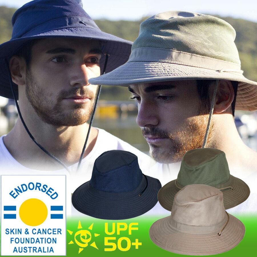 メンズ 帽子 メッシュ クールカンフォート ハット 農作業 ガーデニング UV 日よけ おしゃれ 紫外線 UVカット 春 夏 つば広 大きいサイズ 男性 男 ぼうし 59cm / 61cm / 63cm