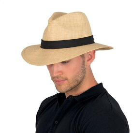 麦わら帽子 つば広 UVカット 帽子 メンズ UV 男性用 ストロー ラフィア ハット 農作業 ガーデニング 日よけ おしゃれ 紫外線 春 夏 麦わら帽子 麦わら つば広 大きいサイズ 58cm / 60cm