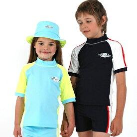 UVカット キッズ 水着(子供用) - キッズ ラッシュガード 半袖※紫外線カット(UVカット)最高値UPF50+