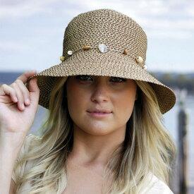 麦わら帽子・ストローハット風 UVカット 帽子(ジュニア 女子) - キッズ ジュニア ハット中学生 高校生 ティーンエイジャーの女の子におすすめ※紫外線カット(UVカット)最高値UPF50+ 日よけ 帽子 カラー:チョコレート