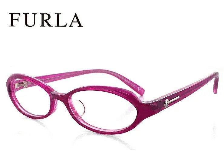 フルラ メガネ FURLA 眼鏡 VU4695j 90s【ジャパンフィット モデル】パープル レディース 女性用 オーバル型 かわいい 人気の オススメ めがね [ 度付き 度なし ダテ眼鏡 クリアサングラス 老眼鏡 対応可能 ]