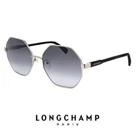 ロンシャン サングラス レディース lo106s 715 longchamp UVカット UV400 オクトパス 八角形 型 メタル フレーム