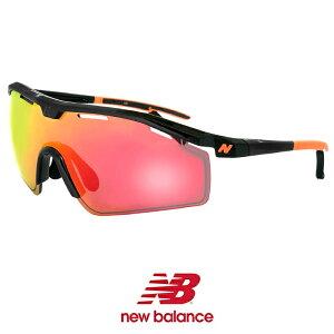 ニューバランス スポーツサングラス 度付き 対応 nb08086-c01 New Balance メンズ レディース ニュー バランス new balance nb08086-001 シールド型 1枚レンズ 自転車 バイク ゴルフ ランニング テニス 黒