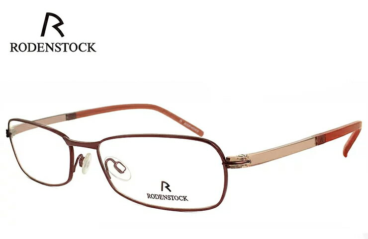 ローデンストック 眼鏡 (メガネ) RODENSTOCK r4717 C メタル コンビネーション スクエア型 フレーム メンズ 男性用 [ 度付き・伊達メガネ・クリアサングラス・老眼鏡として 対応可能な UVカット レンズ 付き ] ローデン ストック レッド 赤縁