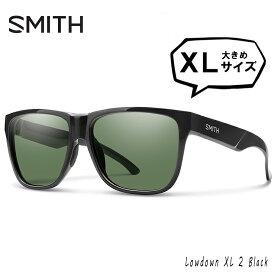 SMITH スミス 偏光サングラス 大きめ サイズ Lowdown XL2 807 Black polarized Gray Green 大きい XLサイズ 横幅 大きい 偏光 サングラス メンズ 男性用