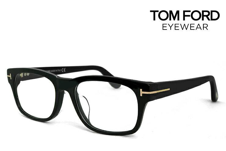 トムフォード メガネ アジアンフィット TF-5432 001 tf5432 TOM FORD 眼鏡 黒ぶち [ 度付き,ダテ眼鏡,クリアサングラス,老眼鏡 として対応可能 ] tomford ウェリントン メンズ 黒縁