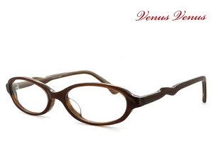 メガネ レディース 女性Sサイズ オーバル型 [ 女性用 眼鏡 ] 薄型 UVカットレンズ付き おしゃれ [ 度付き・伊達メガネ・クリアサングラス・老眼鏡として 対応可能 ] venus! venus! 1176-6-1