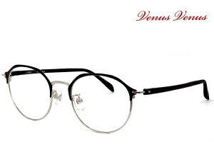 メガネ レディース [ 度付き・伊達メガネ・クリアサングラス・老眼鏡として 対応可能 ] [ 薄型 UVカットレンズ付き ] 女性用 多角形 眼鏡 venus×2 2338-1