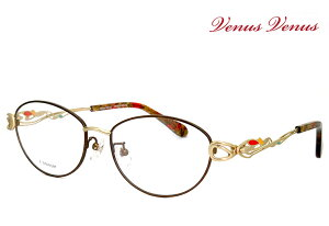 メガネ レディース [ 度付き・伊達メガネ・クリアサングラス・老眼鏡として 対応可能 UVカットレンズ付 ] かわいい オシャレ 女性用 眼鏡 venus×2 8209-9