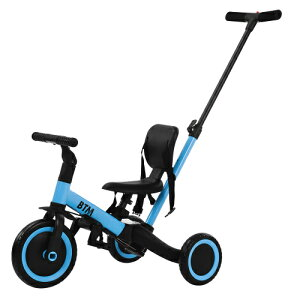 子供用三輪車 押し棒付き三輪車 キッズスクーター バランスバイク 1~6歳用 安全 三輪車 3輪車 キックボード キックスクーター ハンドル/サドル調整 トレーニングバイク 乗り物 おもちゃ 乗用