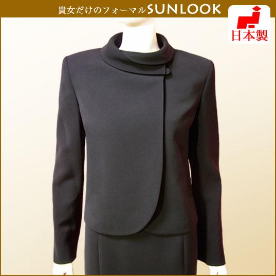 【日本製】ブラックフォーマル ロールカラージャケット 単品 女性礼服 喪服