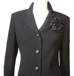 【ブラックフォーマル】日本製ロング丈パンツスーツ