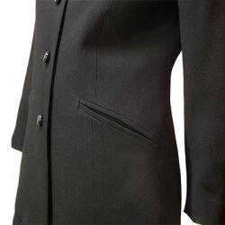 【日本製】ブラックフォーマルパンツスーツ(ヒップをカバーするテーラーロングジャケット&ストレートパンツ)レディースミセスお尻が隠れるロング丈礼服喪服【送料無料】あす楽