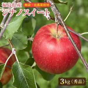 福島産 シナノスイート 秀品3kg(中〜大玉 8〜11玉)【送料無料】ご贈答 シナノスイート 林檎 リンゴ りんご