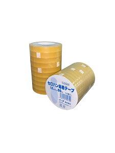 セロハン粘着テープ 幅12mm×長さ50m 10個入り