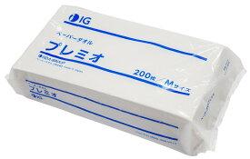 ペーパータオル 1パック200枚入り【再生紙】 安心のIGブランド サイズ:230×220
